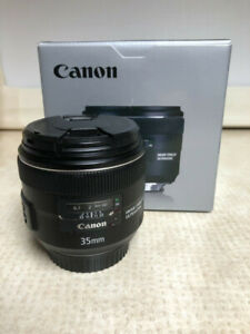 like new canon EF 35 f2 IS USM prime lens in box