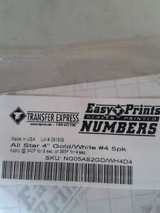 4 inch numbers for heat press application London Ontario image 5