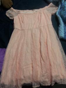 Pink Off-the-Shoulder Dress from Torrid