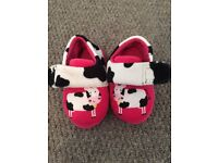 Cow themed indoor slippers (size 4) - NEVER WORN