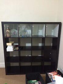 IKEA Expedit 4x4 bookshelf/bookcase dark wood black