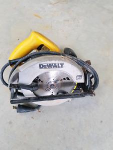 2 DeWalt circular saws