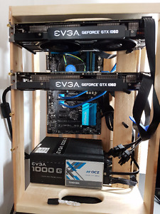 GPU mining rig (currently ETH) - 2x 1060 + 2 available slots