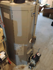 Hot water tank and furnace