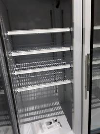 Polar glass double door refrigerator