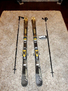 Dynastar Exclusive 9 AIS Skis w/ AIS Exclusive Bindings & Poles Kitchener / Waterloo Kitchener Area image 1