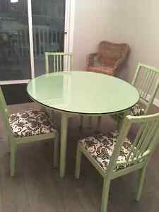 Chalk Painted And Restored Table and Chairs