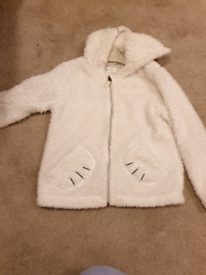 Fluffy warm zip up jacket
