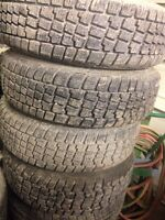 4-185/70/R14 Avalanche M/S  Tires on 2003 Honda Civic  Rims