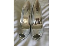 Silver ladies shoes