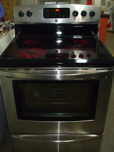 Black and Stainless Kenmore Stove