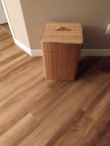 Wicker storage basket with lid $5.00