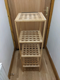 Fast sell! 2 Bamboo shelves (can sell separately)