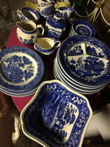Antique Blue Willow Collection
