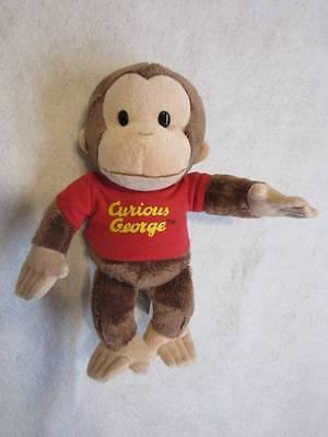 "GUND Curious George Stuffed Animal 12"" Monkey RED TEE Trademark"