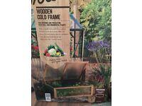 Wooden garden cold frame