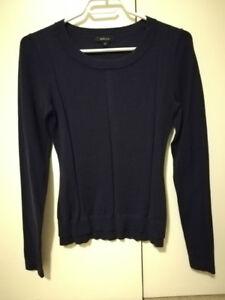 EUC RW&CO women's dark purple sweater
