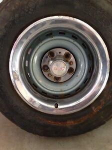 "5 - 15""  GM truck rallyes w/ rings & (GMC) caps        250 obo"
