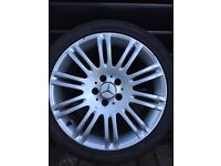 """Mercedes bens alloy wheel staggered 18"""" +tyre"""