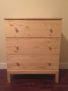 Selling 1 yr old wooden Tarva dresser from IKEA with 3 drawers