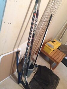 Easton left curve (wood) & Bauer supreme one95 with rbk blade
