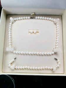 Matched set fresh water pearls $300