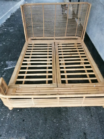 FREE local delivery Rattan Bamboo Double bed base.