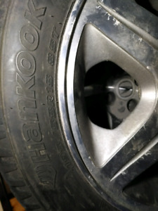 Winter tires on alloy rims 4x100 195/55/15