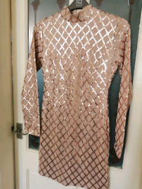 Gorgeous rose gold dress Size 12