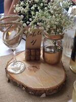 Rustic Wood Wedding Centrepieces