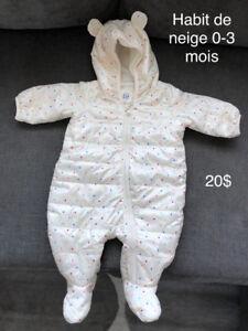 Vêtements pour bébés de 0 à 18 mois