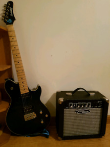 Slammer guitar by hamer with amp