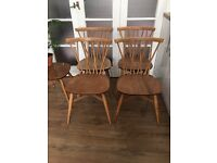 GENUINE ERCOL CANDLES STICK CHAIRS FREE DELIVERY GENUINE