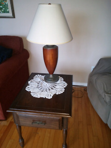 2 lamps and 2 tables