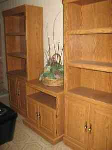Bookcases and Matching TV Stand For Sale