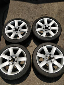 Set of rims and tires-225/45ZR17
