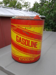 5 gal stan can , gasoline can