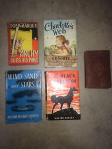 4 Famous Vintage First Edition Books + 1 antique book -Palestine