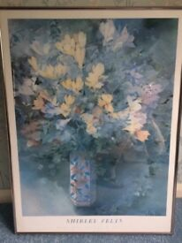Shirley Felts Floral Picture