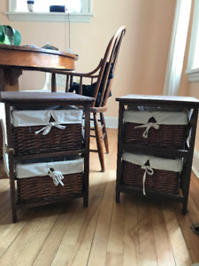 2 Matching bedside tables- $80 for both