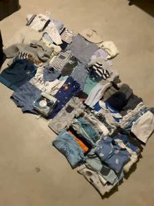 Over 70 pieces of Baby boy clothes 6-12