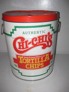 Vintage Chi-Chi's Tortilla Tin, 12 IN tall