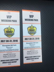 Two VIP weekend pass river glade Motocross Nationals