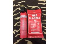 Fire extinguisher and fire blanket