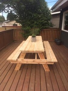 Cedar Picnic Table Kits - 3ft to 10ft sizes West Island Greater Montréal image 4