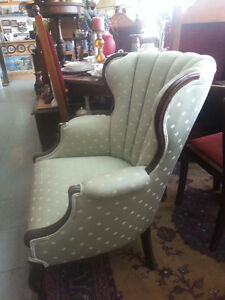 ANTIQUE WING BACK ARM CHAIR London Ontario image 3
