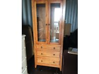 Display cabinet/ dresser solid pine
