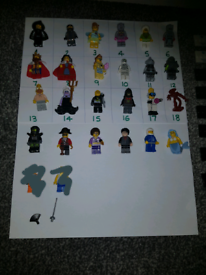 Lego minifigures with stands