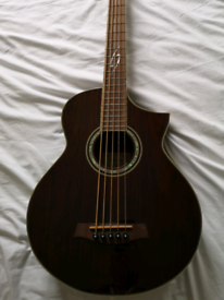 Ibanez exotic wood semi acoustic bass, used for sale  Chorley, Lancashire