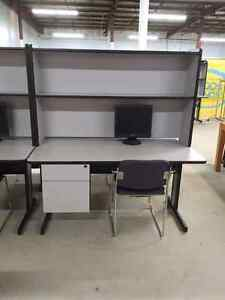 Desk and shelving unit Kawartha Lakes Peterborough Area image 1